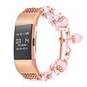 tanie Sztuczne kwiaty-Watch Band na Fitbit Charge 2 Fitbit Design biżuterii Metal Opaska na nadgarstek