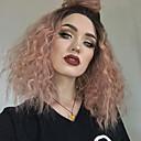 preiswerte Kleider für Mädchen-Synthetische Lace Front Perücken Kinky Curly Stil Mit Strähnen Spitzenfront Perücke Rot Schwarze Rose Synthetische Haare Damen Rot Perücke Mittlerer Länge EEWigs Natürliche Perücke