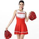 tanie Kostiumy dla Dorosłych-Cheerleaderka Kostiumy Cosplay Damskie Karnawał Festiwal/Święto Kostiumy na Halloween Stroje Czarny / Różowy / Czerwony Kolorowy blok