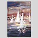 tanie Modne kolczyki-Hang-Malowane obraz olejny Ręcznie malowane - Krajobraz Nowoczesny Brezentowy