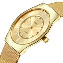 abordables Relojes de Vestir-Hombre Reloj de Pulsera Resistente al Agua / Noctilucente Acero Inoxidable Banda Casual / Moda Plata / Dorado