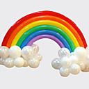 cheap Birthday Home Decorations-Rainbow Balloon Set Birthday Party Wedding Deco (20 Long Balloon 16 Round Balloon)