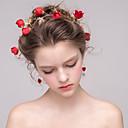 tanie Imprezowe nakrycia głowy-Kryształ / Flokowane Kwiaty / Łańcuch głowy z Kryształki / Szurowane / Kwiat 1szt Ślub / Specjalne okazje Winieta
