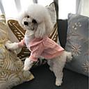 tanie Zestawy ubrań dla dziewczynek-Kot / Psy Płaszcz / Sweter / Bluza z Kapturem Ubrania dla psów Biały / Czerwony / Różowy Bawełna Kostium Dla zwierząt domowych Impreza / Nowe / Codzienne