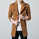 tanie Słuchawki i zestawy słuchawkowe-Płaszcz Męskie Moda miejska Jendolity kolor Poliester