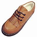 baratos Oxfords Femininos-Mulheres Sapatos Borracha Inverno Conforto Oxfords Sem Salto Ponta Redonda Preto / Castanho Claro
