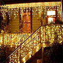cheap Birthday Home Decorations-Christmas Garland Led Curtain Icicle String Light 220V 1.5M 48Leds Indoor Drop Led Party Garden Stage Outdoor Decorative Light