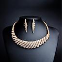 preiswerte Modische Halsketten-Damen Kubikzirkonia Schmuck-Set - Strass, vergoldet Einschließen Tropfen-Ohrringe / Anhängerketten Gold Für Hochzeit / Party