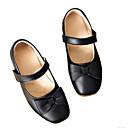 baratos Mocassins Femininos-Para Meninas Sapatos Couro Primavera / Outono Conforto Rasos para Preto / Azul / Rosa claro