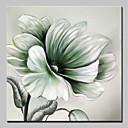 tanie Obrazy: motyw roślinny/botaniczny-Hang-Malowane obraz olejny Ręcznie malowane - Kwiatowy / Roślinny Prosty / Nowoczesny Brezentowy / Rozciągnięte płótno