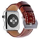 billige Herreklokker-Klokkerem til Apple Watch Series 4/3/2/1 Apple Lærrem Ekte lær Håndleddsrem
