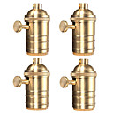 cheap LED Bulbs-4 Pcs E26/ E27 Industrial Light Socket Vintage Edison Pendant lamp Metal holder With Knob switch