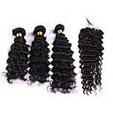 tanie Dopinki w naturalnych kolorach-4 zestawy Włosy brazylijskie Pofalowana Włosy remy Człowieka splotów włosów Ludzkie włosy wyplata Ludzkich włosów rozszerzeniach