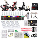 cheap Starter Tattoo Kits-Tattoo Machine Starter Kit - 3 pcs Tattoo Machines with 10 x 5 ml tattoo inks, Professional LCD power supply Case Not Included 2 cast iron machine liner & shader, 1 rotary machine liner & shader