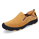 זול נעלי בד ומוקסינים לגברים-בגדי ריקוד גברים נעליים דמוי עור / עור חזיר סתיו / חורף נוחות נעליים ללא שרוכים צהוב / Wine / חאקי