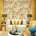 billige Vegglamper-Trær / Blader Art Deco 3D Hjem Dekor Moderne كلاسيكي Rustikk Tapetsering, Lerret Materiale selvklebende nødvendig Veggmaleri, Tapet