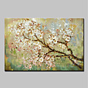cheap Landscape Paintings-Oil Painting Hand Painted - Floral / Botanical Modern Canvas