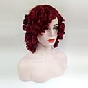 hesapli Sentetik Peruklar-Sentetik Peruklar Gevşek Dalgalar Bantlı Sentetik Saç Kırmızı Peruk Kadın's Orta Bonesiz