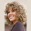 cheap Human Hair Capless Wigs-Human Hair Capless Wigs Human Hair Curly Wavy Highlighted/Balayage Hair Medium Machine Made Wig Women's