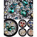 hesapli Boncuklar ve Takı Yapımı-Cam Boncuklar Yapay elmas / Pullu ve Işıltılı / Moda Günlük Tırnak Tasarımı Tasarımı