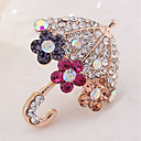 cheap Religious Jewelry-Brooches - Imitation Diamond Umbrella Classic Brooch Gold For Daily