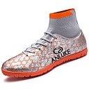 baratos Sapatos Esportivos Masculinos-Homens Sapatos Confortáveis Borracha Primavera / Outono Tênis Futebol Botas Curtas / Ankle Preto / Laranja / Azul Real