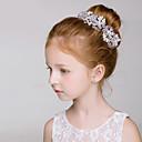 baratos Braceletes-Cristal / Imitação de Pérola Headbands / Flores com Floral 1pç Casamento / Festa / Noite Capacete