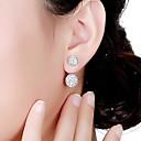 cheap Jewelry Sets-Women's Crystal Stud Earrings Front Back Earrings / Ear Jacket - Crystal Basic Silver For Formal