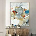 رخيصةأون ملصقات الحائط-كارتون صورة زيتية جدار الفن,سبيكة مادة مع الإطار For تصميم ديكور المنزل الفن الإطار غرفة الجلوس غرفة الطعام