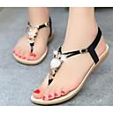 זול סנדלי נשים-בגדי ריקוד נשים נעליים PU אביב / קיץ נוחות סנדלים שטוח סגול / אדום / כחול בהיר