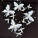 cheap Eyelashes-Fabric Hair Clip with Butterfly Design 4pcs Wedding / Special Occasion Headpiece