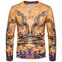 billige Zentai-Rund hals T-skjorte Herre - Dyr, Trykt mønster Chinoiserie Drage / Langermet