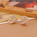 cheap Earrings-Women's Stud Earrings - Flower Simple, European, Fashion Gold For Daily