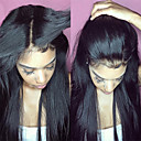 cheap Human Hair Capless Wigs-Virgin Human Hair Unprocessed Human Hair Lace Front Wig Brazilian Hair Straight Natural Black Wig Middle Part Free Part 130% Density 8-30 inch with Baby Hair For Black Women Unprocessed Natural Black