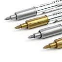 billige Kontor Nødvendigheter-Markører og highlighters Penn Penn,Plastikker Guld Sølv blekk farger For Skole materiell Kontorrekvisita Pakke med 1