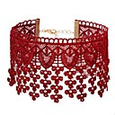cheap Choker Necklaces-Women's Choker Necklace - Lace Flower Simple, Sweet Red Necklace Jewelry One-piece Suit For Daily, Going out
