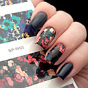 cheap Nail Stickers-1 pcs Stickers nail art Manicure Pedicure Flower / Fashion / Nail Decals Daily