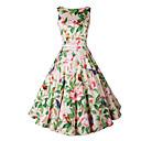 저렴한 보석 세트-여성용 칼집 드레스 - 플로럴 하이 웨스트