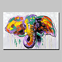 cheap Prints-Oil Painting Hand Painted - Animals Animals Modern Stretched Canvas