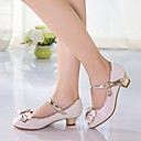 cheap Party Headpieces-Girls' Shoes PU Spring Tiny Heels for Teens Heels Bowknot for White / Pink