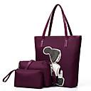 olcso Táska szett-Női Táskák Oxford szövet táska szettek 3 db erszényes készlet Flitter Fekete / Szürke / Bíbor
