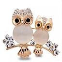 cheap Brooches-Women's Opal Brooches - Opal, Imitation Diamond Owl Classic Brooch Gold For Daily / Formal