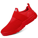 cheap Men's Boots-Men's Knit Spring / Fall Comfort Sneakers White / Black / Red