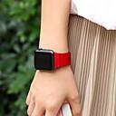 billige Smartklokke Tilbehør-Klokkerem til Apple Watch Series 3 / 2 / 1 Apple Lærrem Ekte lær Håndleddsrem
