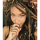 cheap Hair Braids-Braiding Hair 14 inch Curly Short Dreadlocks / Soft Faux Locs Synthetic Hair 24 roots / pack Hair Braids Medium Length 100% kanekalon hair 85g 5-6 pack for a full head