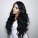olcso Emberi hajból készült parókák-Emberi haj Csipke eleje Paróka Brazil haj Hullámos / Természetes hullám Paróka Tincselve 130% Természetes hajszálvonal / 100% Szűz / A feldolgozatlan Női Rövid / Közepes / Hosszú Emberi hajból