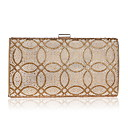 cheap Totes-Women's Bags Polyester Evening Bag Crystals Gold / Black / Silver