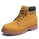 cheap Men's Boots-Men's Combat Boots Cowhide Spring / Fall Comfort Boots Booties / Ankle Boots Yellow / Brown