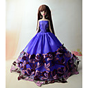 cheap Doll Houses-Party/Evening Dresses For Barbie Doll Polyester Dress For Girl's Doll Toy
