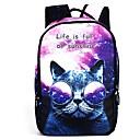 זול Elementary Backpacks-שקיות פּוֹלִיאֶסטֶר תרמיל דוגמא \ הדפס / רוכסן ל בָּחוּץ לבן / סגול